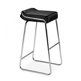 Black Vinyl Wedge Bar Stool CHR011758