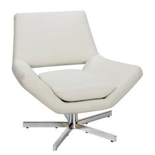 White Vinyl Lounge Chair CHR011855