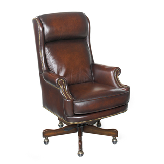 Brown Leather Executive Hi-Back Swivel Chair CHR012016