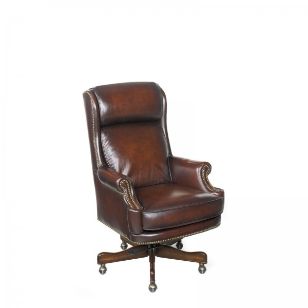 Brown Leather Executive High-Back Swivel Chair CHR012016