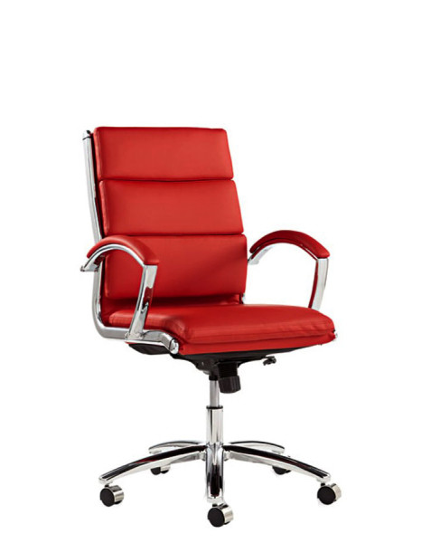 Red Leather Executive Mid-Back Office Chair CHR012414