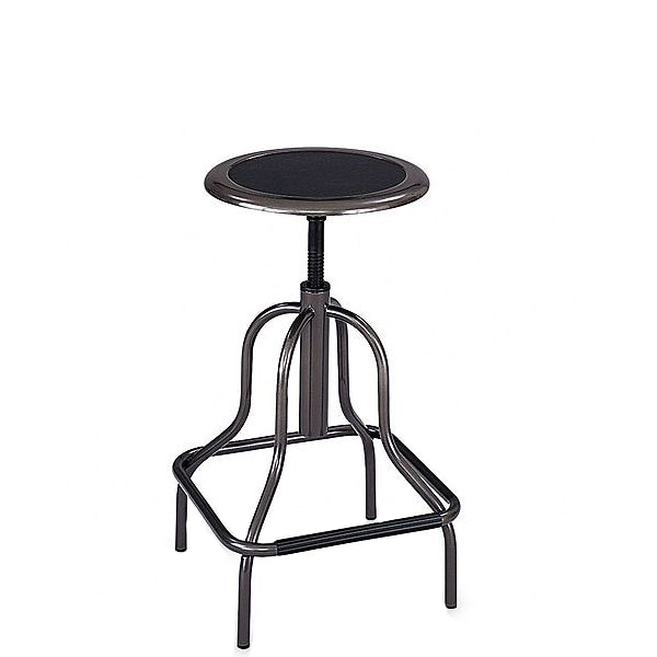 Pewter Industrial Stool CHR012428