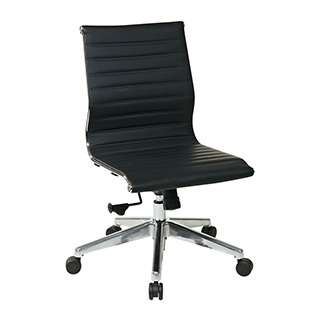 Black Leather Eames Mid-Back Conference Chair CHR012470