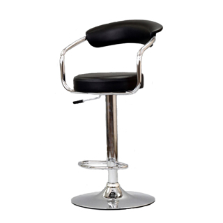 Black Vinyl Bar Stool CHR012567