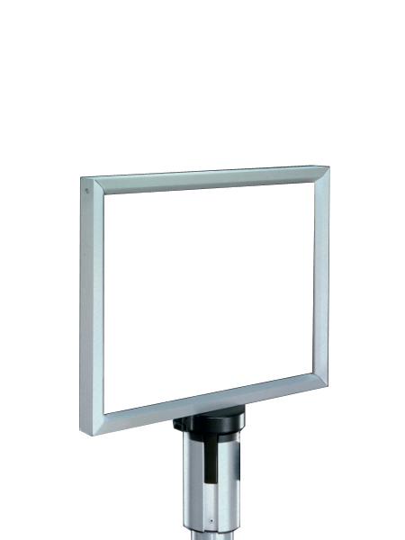 11″w x 7″d Satin Aluminum Stanchion Sign MIS006588