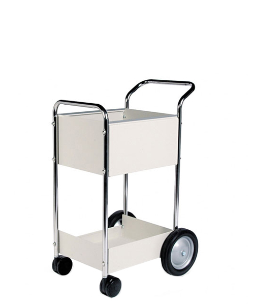 "38""w x 16.25""d Light Grey Mail Cart MIS010641"