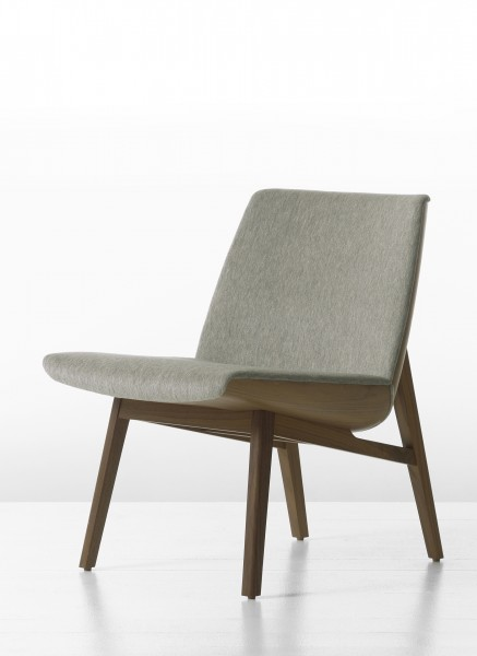 Clamshell wood lounge chair arenson office furnishings