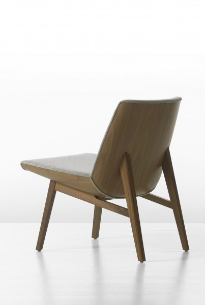 Clamshell Wood Lounge Chair
