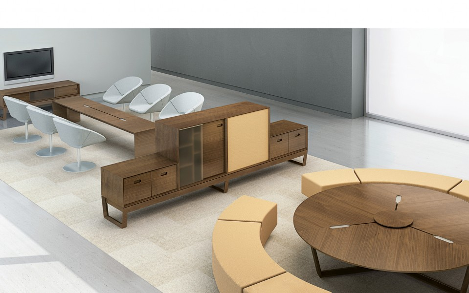 Site Round Low Conference Table