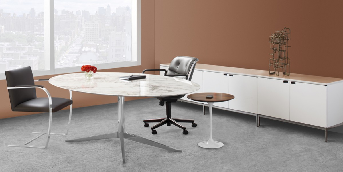 florence knoll table desk arenson office furnishings
