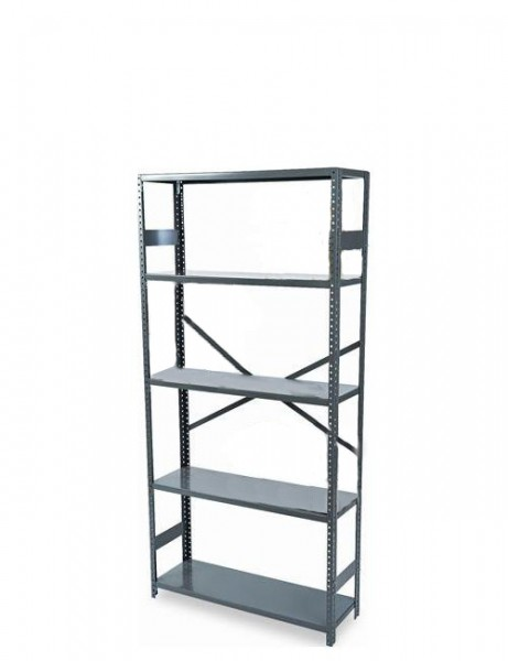 "36""w x 75""h Grey Commercial Steel Shelving Unit SHV010502"