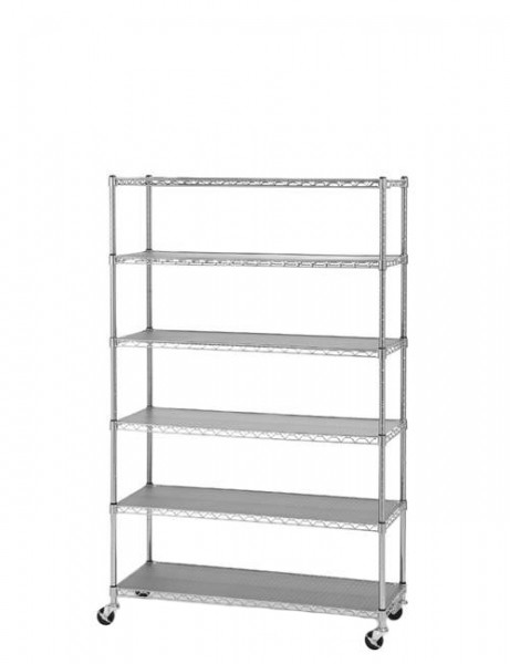 "36""w x 72""h Chrome Shelving Unit SHV011768"