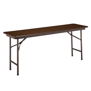 96″w x 30″d Walnut Folding Table TBL002540